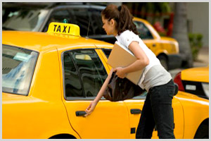 Business transport with taxi